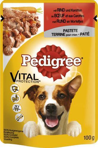 Pedigree Vital Protection mit Rind und Karotten in Pastete