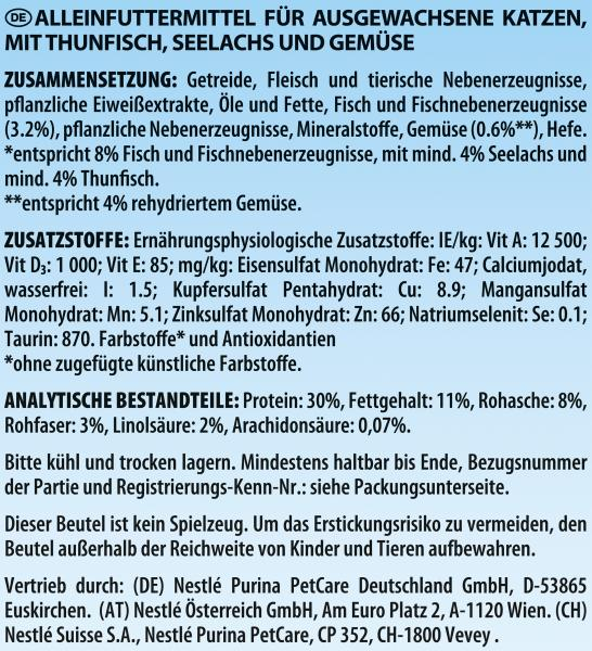 Felix Crunchy & Soft mit Thunfisch, Seelachs und Gemüse