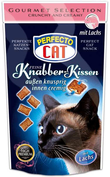 Perfecto Cat Feine Knabber Kissen mit Lachs