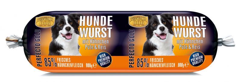 Perfecto Dog Hundewurst mit Hähnchen, Pute & Reis