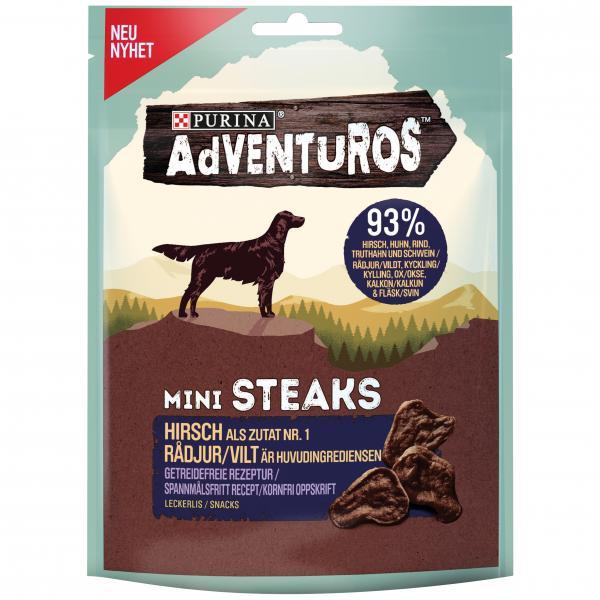 Adventuros Mini Steaks Hirsch