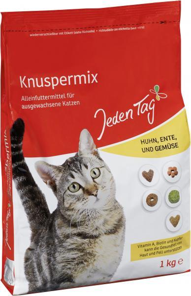 Jeden Tag Katze Knuspermix mit Huhn, Ente und Gemüse