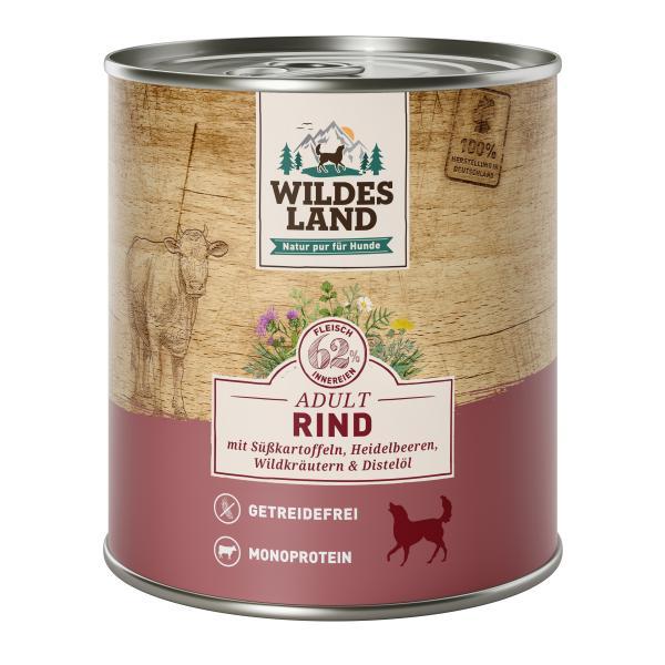 Wildes Land Hund Adult Rind mit Süßkartoffeln, Heidelbeeren, Wildkräutern & Distelöl