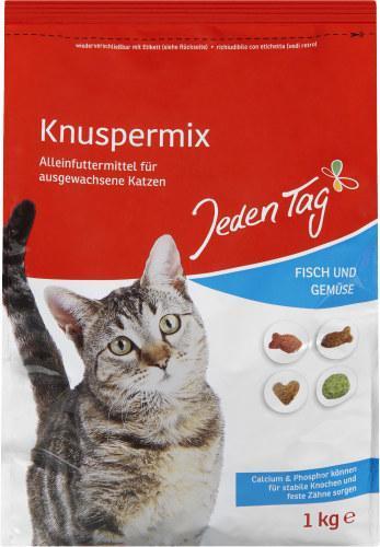Jeden Tag Katze Knuspermix Fisch und Gemüse