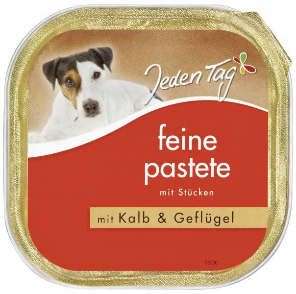 Jeden Tag Hund Feine Pastete Kalb und Geflügel