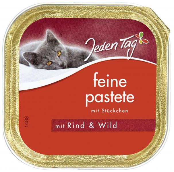 Jeden Tag Katze Feine Pastete Rind und Wild