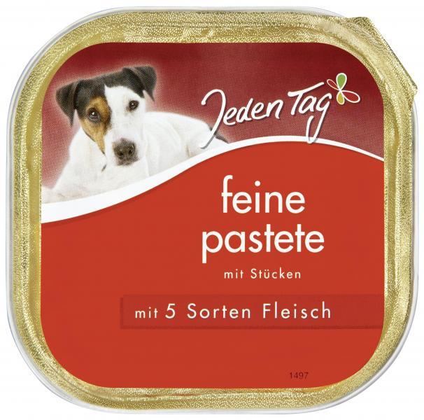 Jeden Tag Hund Feine Pastete mit 5 Sorten Fleisch