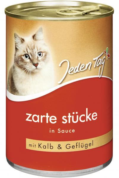 Jeden Tag Katze Zarte Stücke in Sauce Kalb und Geflügel