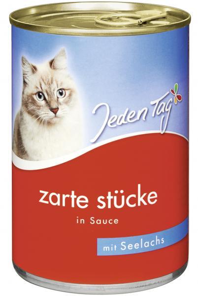 Jeden Tag Katze Zarte Stücke in Sauce Seelachs