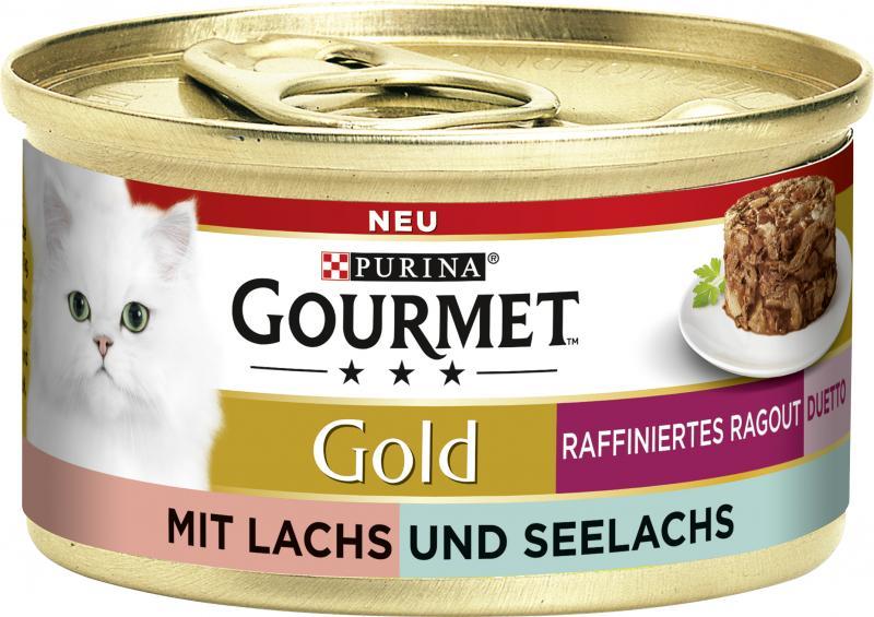 Purina Gourmet Gold raffiniertes Ragout Duett