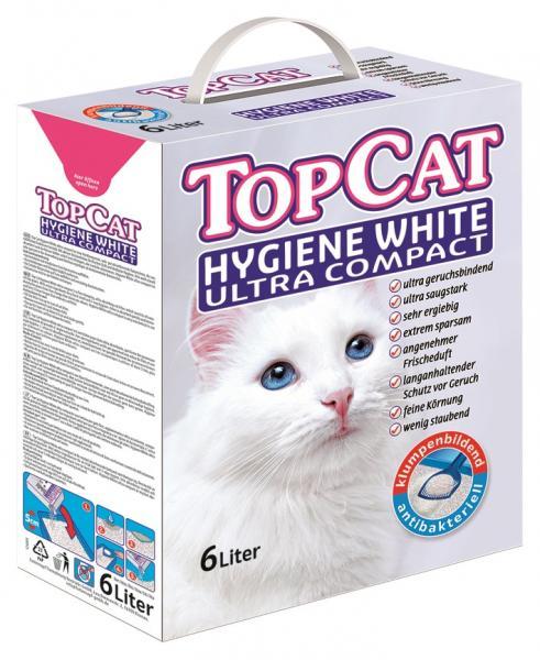 Top Cat Katzenstreu Hygiene White Ultra Compact