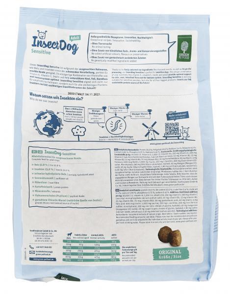 Green Petfood InsectDog Adult Sensitive mit Insektenprotein & Reis