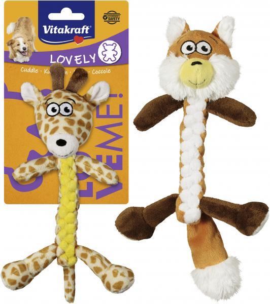 Vitakraft Spielzeug für Hunde Fuchs/Giraffe geknotet