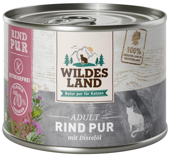 Wildes Land Katze Adult Rind pur
