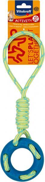 Vitakraft Activity Hundespielzeug Ring mit Seil