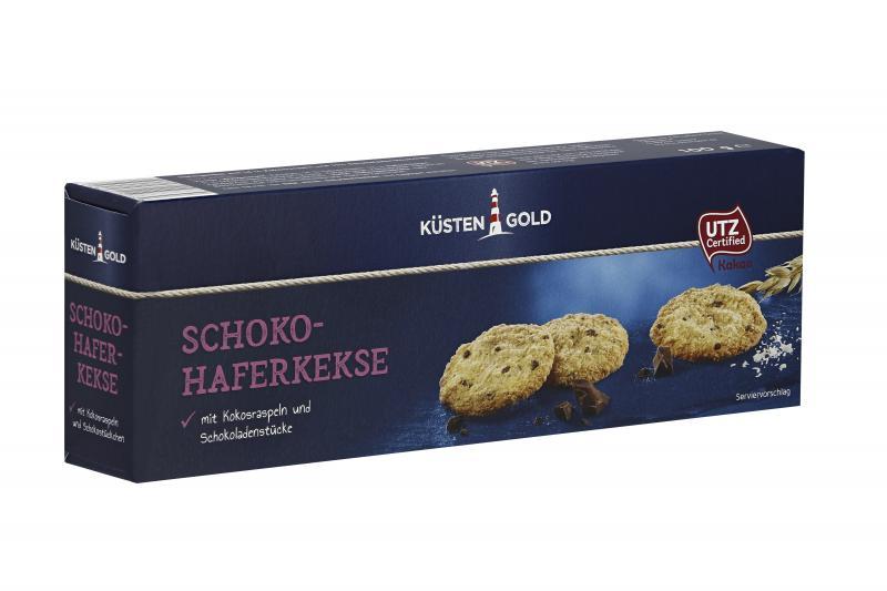 Küstengold Schoko Hafergebäck