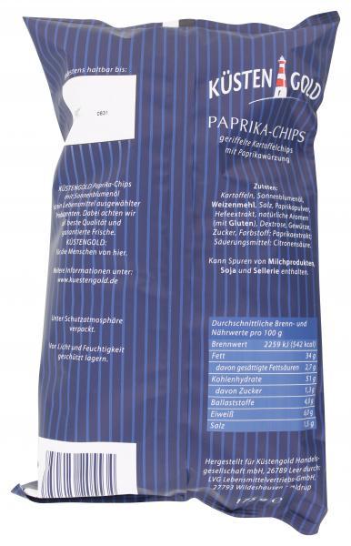 Küstengold Paprika-Chips geriffelt