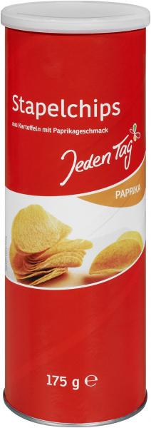 Jeden Tag Stapelchips Paprika