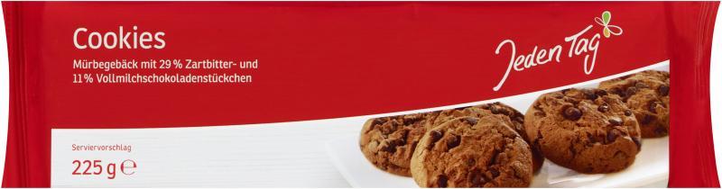 Jeden Tag Cookies mit Schokostückchen