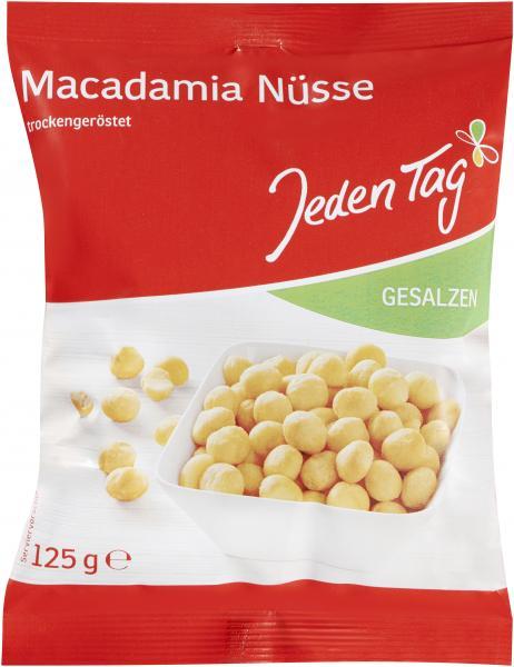Jeden Tag Macadamia-Nüsse