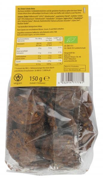Basic Dinkel-Schoko-Kekse Bioland