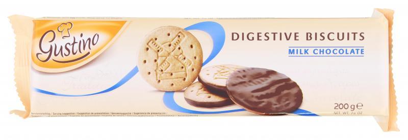 Gustino Digestive Biscuits Milchschokolade