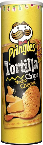 Pringles Tortilla Chips Nacho Cheese