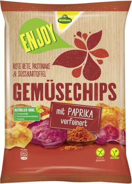 Kühne Enjoy Gemüsechips mit Paprika verfeinert