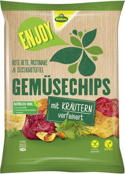 Kühne Enjoy Gemüsechips mit Kräutern verfeinert