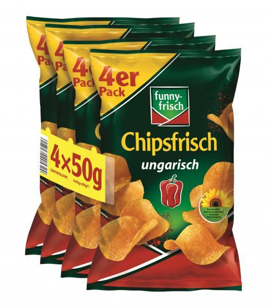 Funny-frisch Chipsfrisch Ungarisch 4er Pack