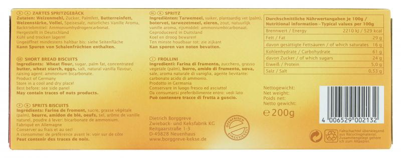 Borggreve Spritz-Gebackenes