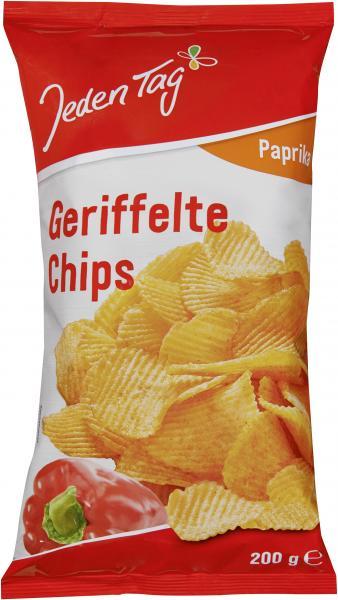 Jeden Tag Geriffelte Chips Paprika