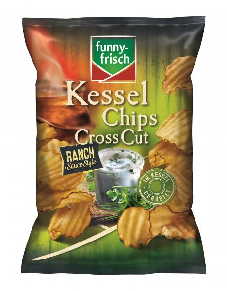 Funny-frisch Kessel Chips Cross Cut Ranch Sauce Style