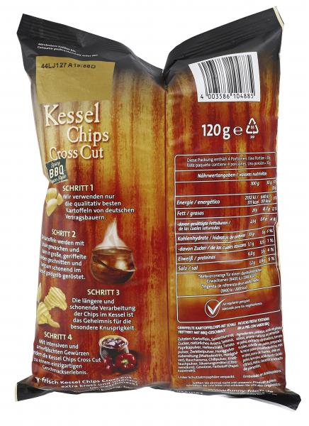 Funny-frisch Kessel Chips Cross Cut Spicy BBQ-Sauce Style