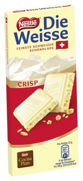 Nestlé die Weisse Crisp Feinste Schweizer Schokolade