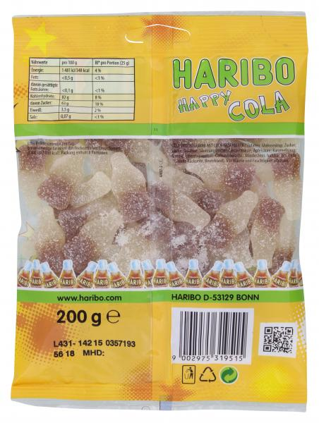 Haribo Happy Cola Lemon Fresh