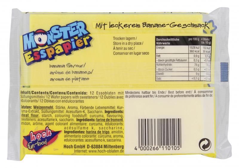 Hoch Fun-food Monster Esspapier