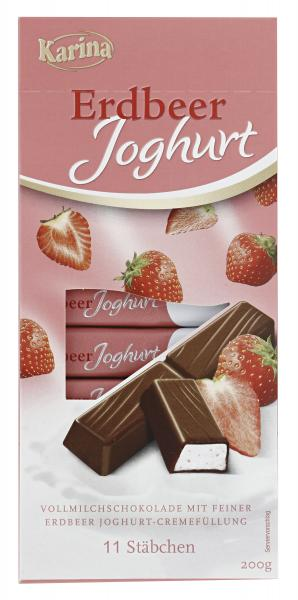 Karina Erdbeer Joghurt Vollmilchschokolade