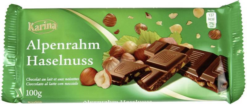 Karina Alpenrahm Haselnuss Schokolade
