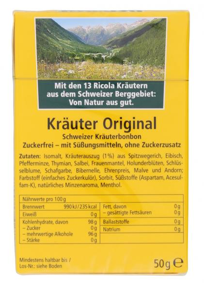 Ricola Kräuter Original zuckerfrei