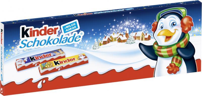 Kinder Schokolade Riegel Weihnachten