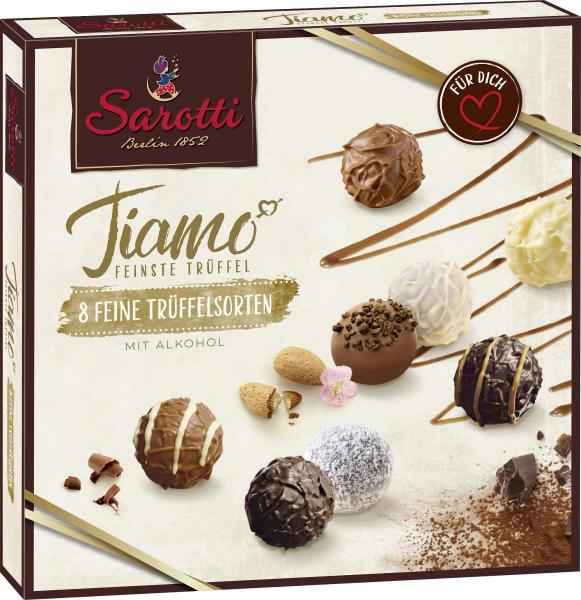 Sarotti Tiamo feine Trüffel-Variation mit Alkohol