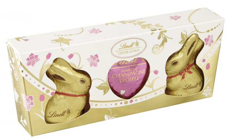 Lindt Oster-Gold Goldhasen Trüffel Duo