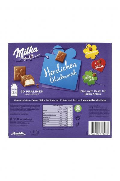Milka Herzlichen Glückwunsch Pralinés Milchcrème