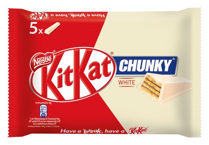 Kitkat Chunky White Schokoriegel mit weißer Schokolade