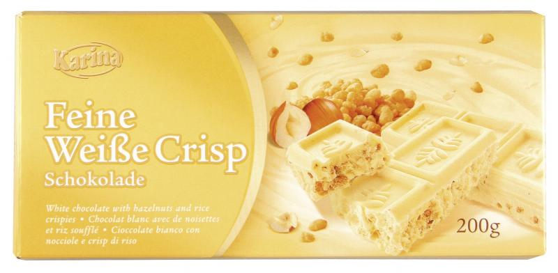 Karina Feine weiße Crisp Schokolade