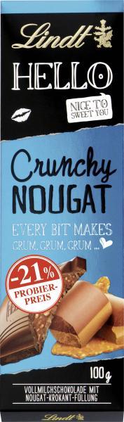 Lindt Hello Crunchy Nougat Tafel