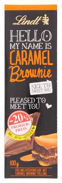Lindt Hello Caramel Brownie Tafel Probierpreis