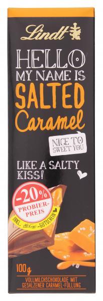 Lindt Hello Salted Caramel Tafel Probierpreis