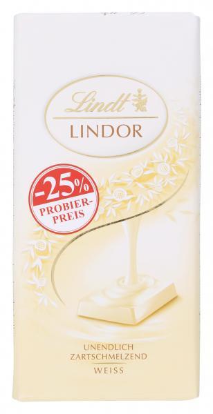 Lindt Lindor weiß Probierpreis